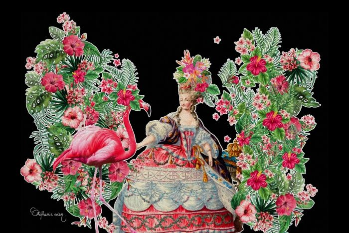 Marie Antoinette and the Flamingo