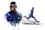 Paul Pogba en bleu