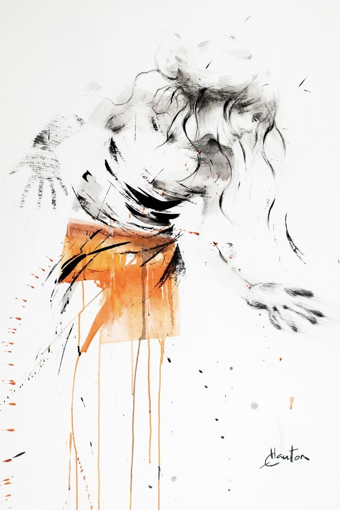 Danse, orange