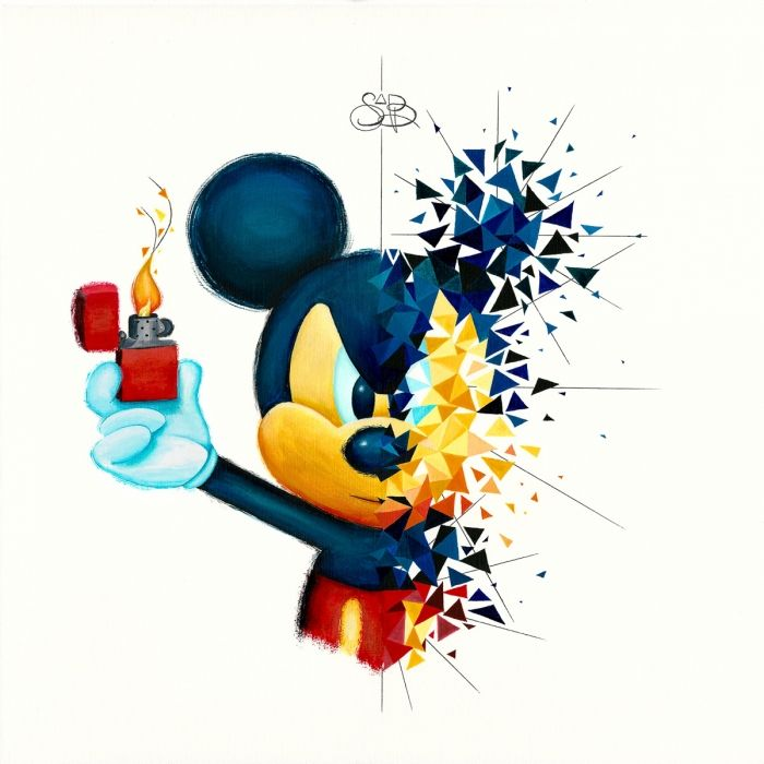 Mickey s'enflamme