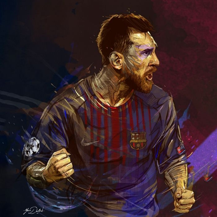La rage de Messi