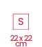 2.1 carré 22x22 S